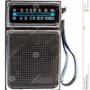 Thumb transistor radio
