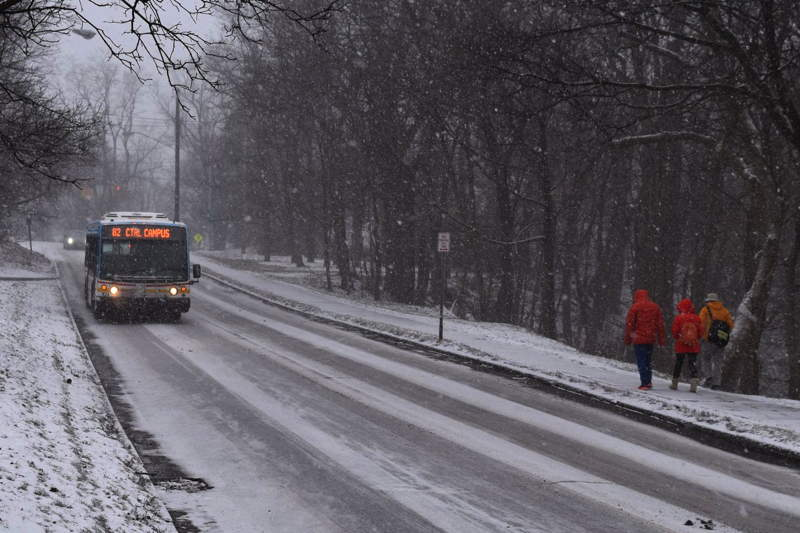 Tcat winter bus snow